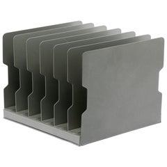 1940s Desktop Memo/ File Holder, Refinished in Metallic Silver