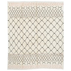 Contemporary Moroccan Wool Rug - 100 Natural Wool. Custom Options Available