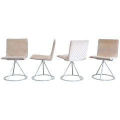 Saporiti Italia & Missoni Set of 4 Dining Chairs Dania by Salvati e Tresoldi