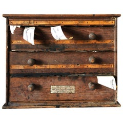 Rare to Find Late 1800s Wood McCourt Dug Store Label Cabinet