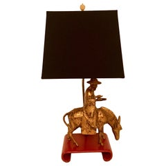 Gilt Asian Lamp
