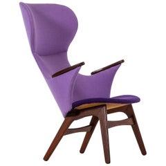 Sculptural Easy Chair in Teak Produced in Denmark