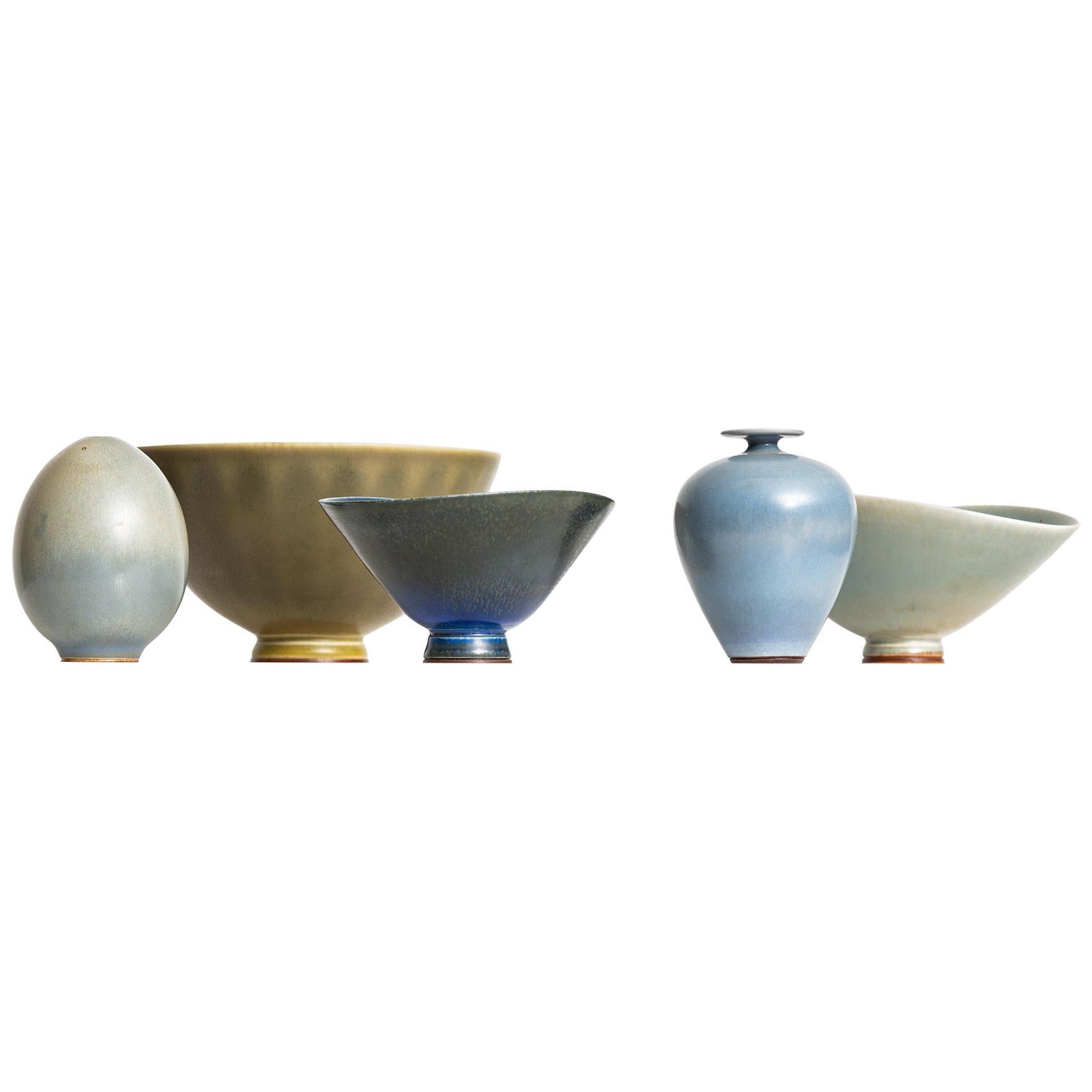 Berndt Friberg Ceramic Vases by Gustavsberg in Sweden