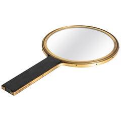 Hand Mirror in Brass in the Manner of Ivar Ålenius Björk