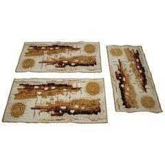 Set of Three Retro Design Carpets/Rugs, 1980s
