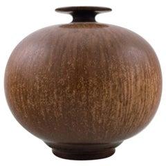 Berndt Friberg Studio Ceramic Vase, Modern Swedish Design, Unique, Handmade