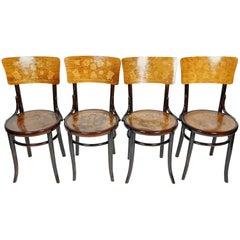 Set of Four Bentwood Chairs Jacob and Joseph Kohn Austria, 1910