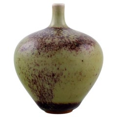 Berndt Friberg Studio Ceramic Vase Modern Swedish Design Unique, Handmade