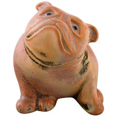 Gösta Grähs for Rörstrand, Rare Bull Dog in Ceramics