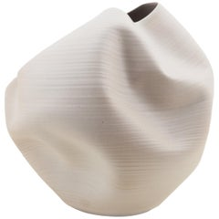 White Irregular Form, Vase, Interior Sculpture or Vessel, Objet D'Art