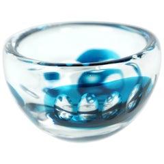 Swedish Art Glass Bowl by Vicke Lindstrand for Kosta Glasbruk