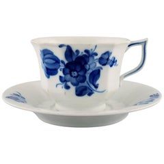Royal Copenhagen Blue Flower Angular Large Tea Cup with Saucer, 2 Sets