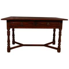 Italian Walnut Side Table