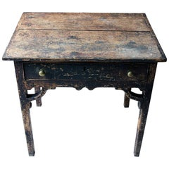 George III Provincial Painted Pine Side Table, circa 1780-1800