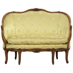 19th Century French Louis XV Style Antique Canapé Sofa Settee