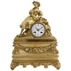 19th Century Bronze Clock