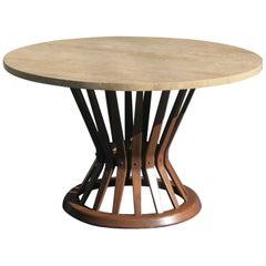 Dunbar Travertine Top Coffee Table Sheaf of Wheat Edward Wormley