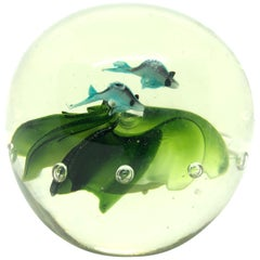 Beautiful Fish Murano Italian Art Glass Aquarium Paperweight
