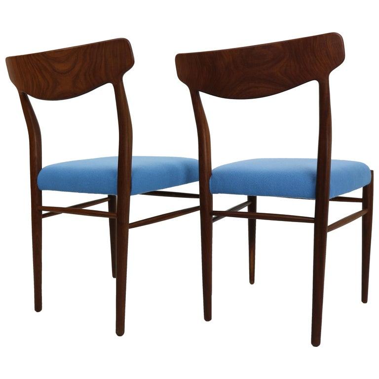Set of 2 Harry Østergaard Teak Chairs, Denmark, 1960s For Sale