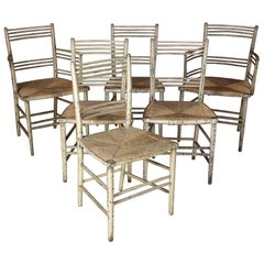 A Set of 6 Early 19th Century Regency Period English Dining Chairs