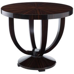 Hester Occasional Table in a stunning Macassar Ebony in the Art Deco Style