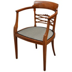 Edwardian Mahogany and Inlaid Chair