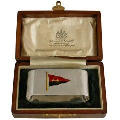 George V Scottish Yacht Club Presentation Silver Napkin Ring Birmingham, 1926