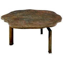 Philip & Kelvin Laverne Rare 'Turtle Table' in Patinated Bronze, 1960s