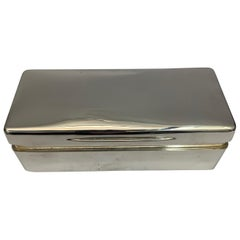 19th Century Silver Box Made in London by Gibson and Langman