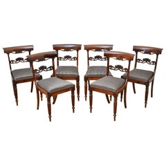 Superb Set of Six William IV Rosewood Dining Chairs