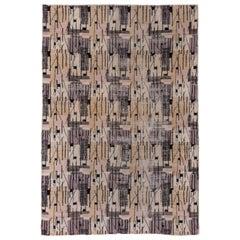 Vintage Art Deco Turkish Carpet by Zeki Muran