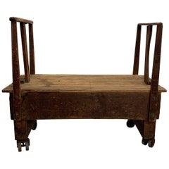 Rustic Industrial Rolling Lumber Cart