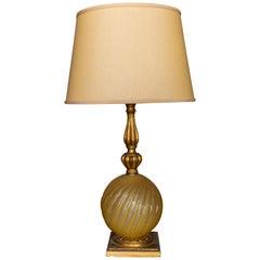 Gold Murano Glass Lamp