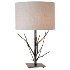 Galho Brazilian Elegant Original Cast Bronze table lamp - Cristiana Bertolucci