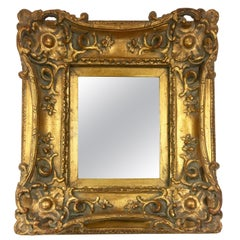 Small Louis XV Style Gilt Composite Giltwood Carved Mirror