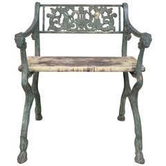 Early 19th Century French Charles X Cast Iron Armchair