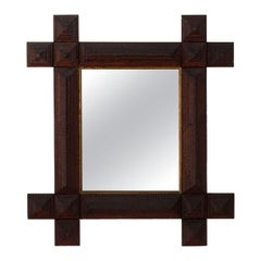 French Carved Wood Mirror