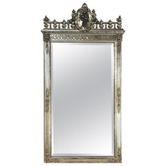 Napoleon III Period French Silver Gilt Mirror