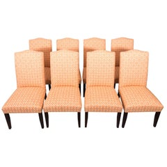 Set of Eight Upholstered Dining Chairs