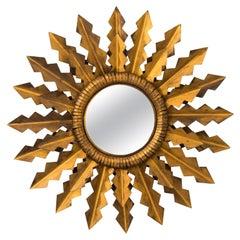 Gilded Sunburst Tole Mirror