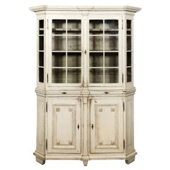 Louis XVI Painted Glass Front Display Cabinet