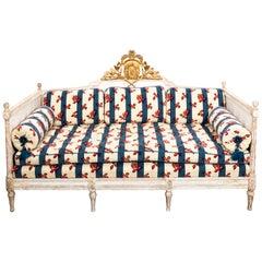 18th Century White Painted Gustavian Swedish Sofa