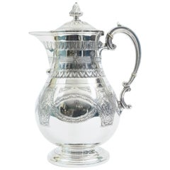Ornate Exterior Design Details English Silver Plate Tea or Coffee Pot