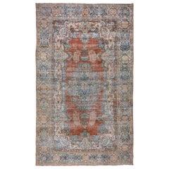 Colorful Distressed Mahal Carpet