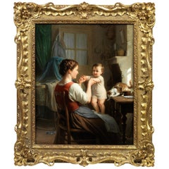 Fritz Zuber-Bühler a Young Woman with Her Child