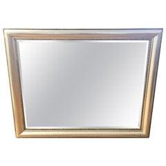 Silver Mid-Century Modern Beveled Mirror