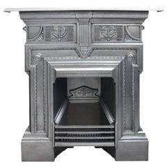 Antique 19th Century Late Victorian Iron Combination Fireplace