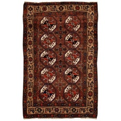 Early 20th Century Antique Turkaman Rug