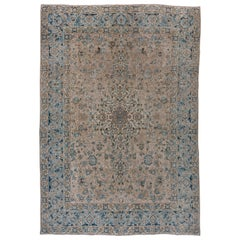 Antique Kashan Carpet, circa 1940s