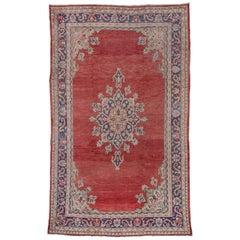 Turkish Red Oushak Carpet, circa 1920s